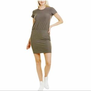 James Perse sage green stretch dress 3 large midi